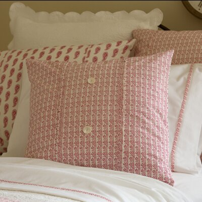 Eloise Porch Cotton Throw Pillow Color: Red