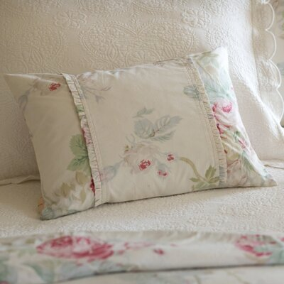 Shore Rose Cotton Boudoir Pillow