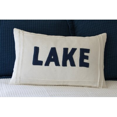 Lake Linen Lumbar Pillow