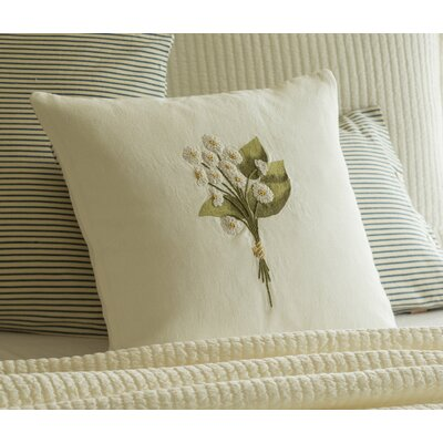 English Daisy Tied Bunch Throw Pillow