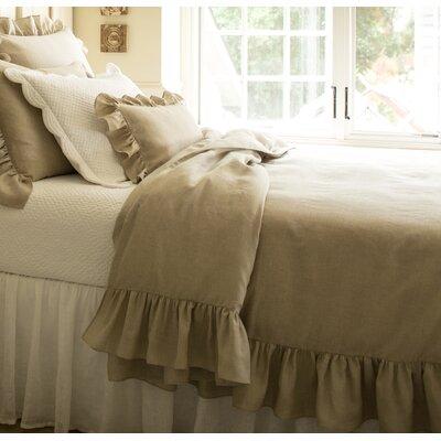 Verandah Linen Duvet Cover Size: King