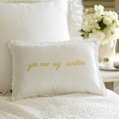You are My Sunshine Dijon Linen Boudoir/Breakfast Pillow