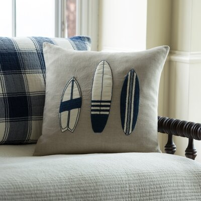 Surfboard Linen Throw Pillow