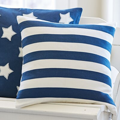 Rugby Stripe Throw Pillow Color: Indigo / Cream