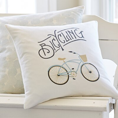 Bicycle Porch Throw Pillow