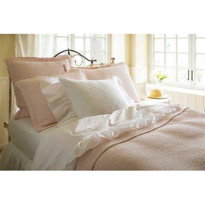 Hudson Matelasse Quilt Size: Twin, Color: Petal