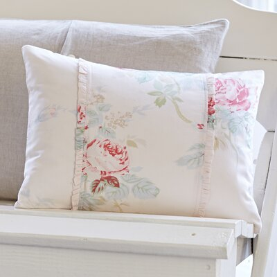 Shore Rose Petal Cotton Lumbar Pillow