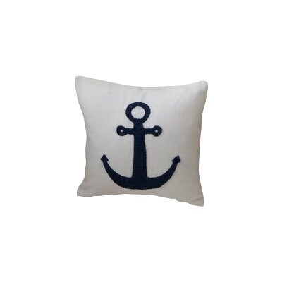 Anchor Toss Linen Throw Pillow Color: White