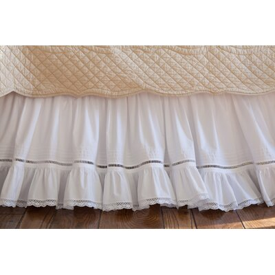 Prairie Crochet Cotton Bed Skirt Size: Twin