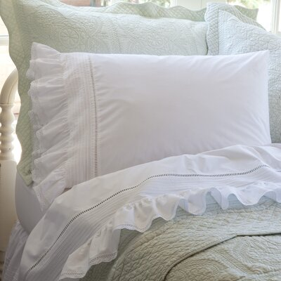 Prairie Crochet Cotton Sheet Set Size: Queen