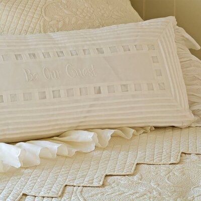 Be Our Guest Cotton Lumbar Pillow