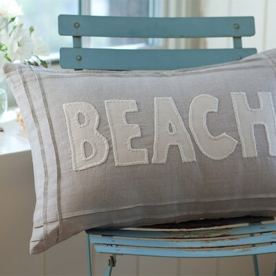Natural Beach Linen Lumbar Pillow