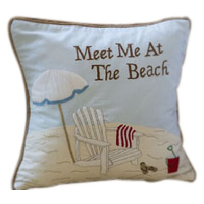 Meet Me at the Beach Cotton Throw Pillow