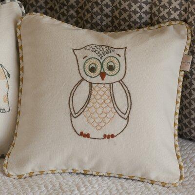Owl Cotton Throw Pillow