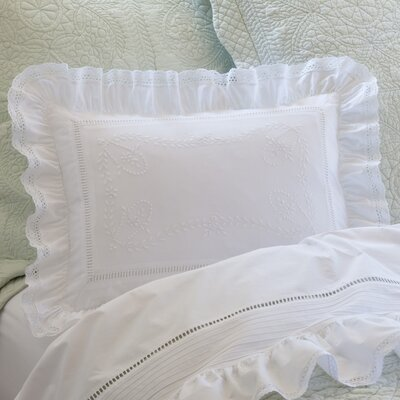 Prairie Crochet Cotton Boudoir/Breakfast Pillow
