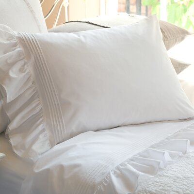 Margaret Cotton Pillowcase Size: King