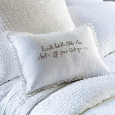 Twinkle Twinkle Little Star Linen Lumbar Pillow Color: Natural