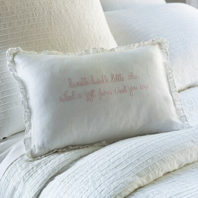 Twinkle Twinkle Little Star Linen Lumbar Pillow Color: Pink