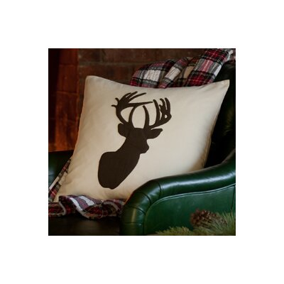 Elk Porch Cotton Throw Pillow