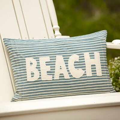 Montauk Beach Cotton Lumbar Pillow