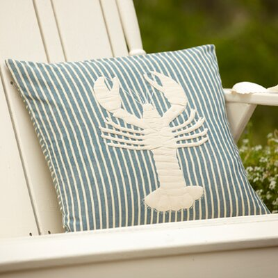Montauk Lobster Outdoor Throw Pillow