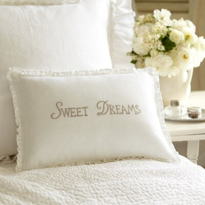 Sweet Dreams Linen Lumbar Pillow Color: Natural