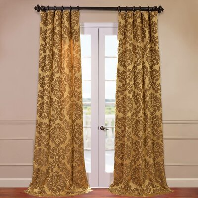 "Half Price Drapes Astoria Faux Silk Jacquard Curtain Panel - Color: Gold and Bronze, Size: 96"" H x 50"" W at Sears.com"