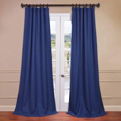 "Half Price Drapes Heavy Faux Linen Curtain Panel - Size: 120"" H x 50"" W, Color: Estate Blue at Sears.com"