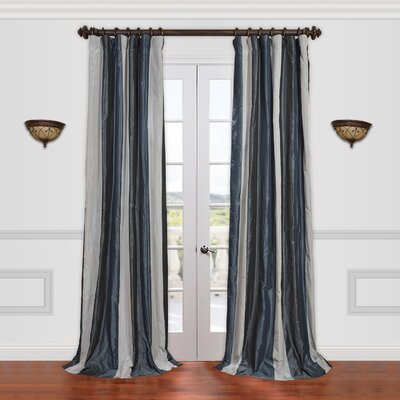 "Half Price Drapes Park Avenue Faux Silk Taffeta Stripe Curtain Single Panel - Size: 108"" H x 50"" W at Sears.com"