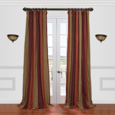 "Half Price Drapes Roxbury Faux Silk Taffeta Stripe Curtain Single Panel - Size: 120"" H x 50"" W at Sears.com"