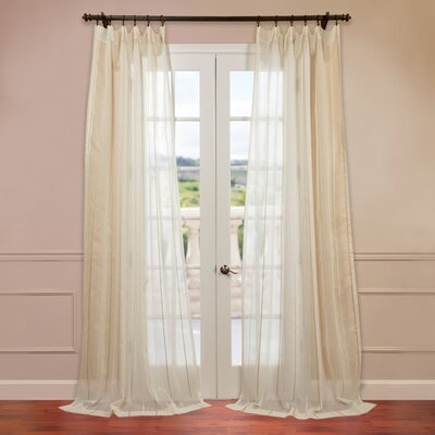 "Half Price Drapes Essex Natural Jacquard Stripe Sheer Curtain Single Panel - Size: 108"" H x 50"" W at Sears.com"