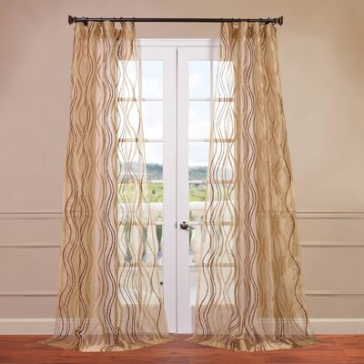 """Half Price Drapes Alegra Embroidered Sheer Curtain Panel - Size: 108"""" H x 50"""" W at Sears.com"""