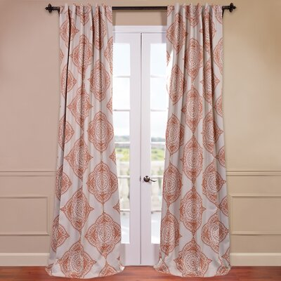 Bungalow Rose Taren Damask Room Darkening Thermal Tab top Single Curtain Panel