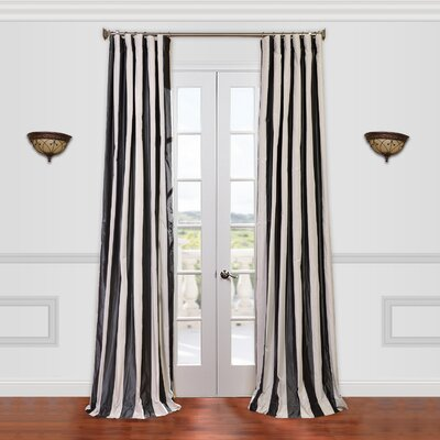 "Half Price Drapes Presidio Faux Silk Taffeta Stripe Curtain Single Panel - Size: 120"" H x 50"" W at Sears.com"