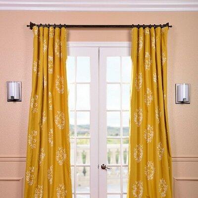 "Half Price Drapes Isles Printed Cotton Rod Pocket Curtain Panel - Size: 108"" H x 50"" W"