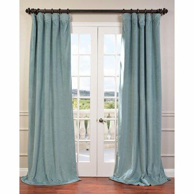 "Half Price Drapes Curtain Panel - Size: 108"" L x 50"" W, Color: Aqua Mist"