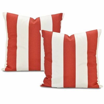 Cabana Printed Cotton Cushion Cover Color: Spice