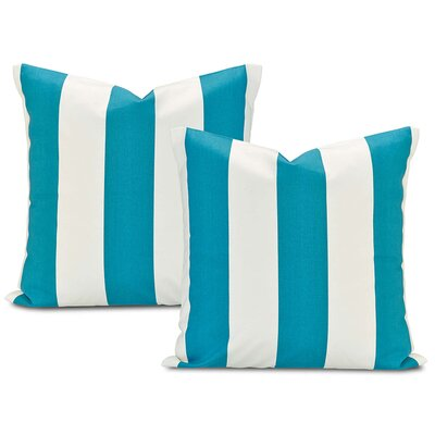 Cabana Printed Cotton Cushion Cover Color: Teal