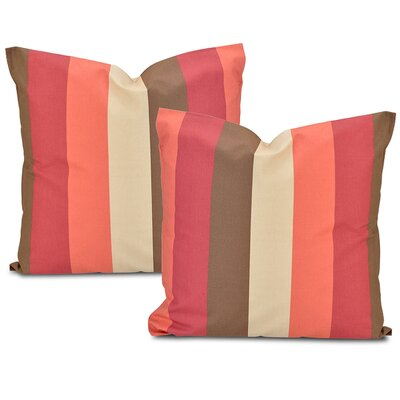 Picante Stripe Printed Cotton Throw Pillow Cover