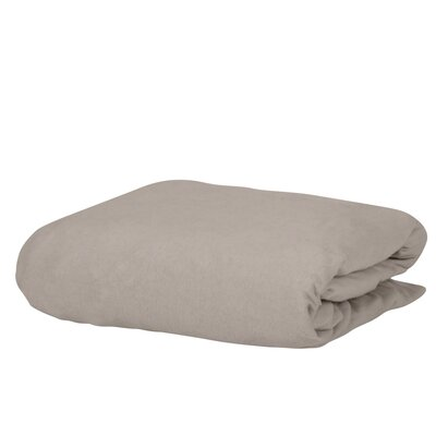 George 100% Cotton Jersey Fitted Bed Sheet Color: Beige, Size: Queen