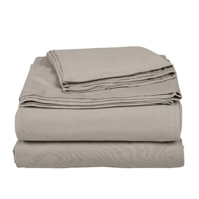 Geoffrey 100% Cotton Jersey Bed Sheet Set Color: Beige, Size: Full