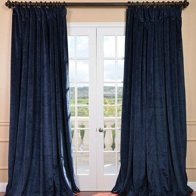 "Half Price Drapes Signature Double Wide Velvet Rod Pocket  Curtain Panel - Color: Blue, Size: 120"" L x 100"" W at Sears.com"