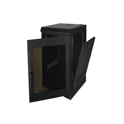 200 Series Compact Wall Mount Enclosure Color: Black, Rack Spaces: 9RU