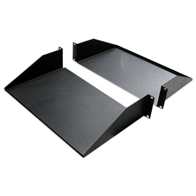25D 2-Piece Double-Sided Non-Vented Divided Shelf - 2 RU