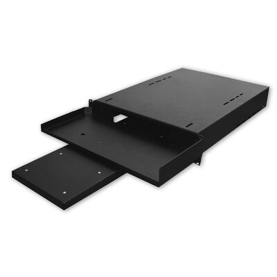 24D Hide-Away Keyboard Shelf with Pull-Out Mouse Tray - 1 RU