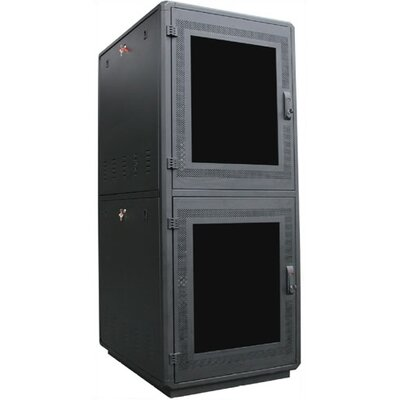 500 Series Co-Location Server Rack Color: Ivory, Rack Spaces: 45RU