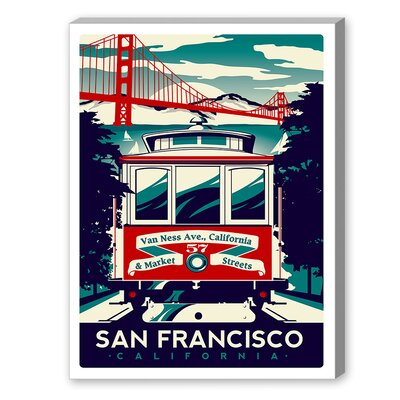 "San Francisco by M Bleichner Graphic Art Size: 14"" H x 11"" W, Type: Print Only A86P016C1114"