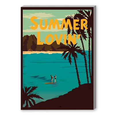 Summer Lovin' by Diego Patino Vintage Advertisement on Canvas Size: 48
