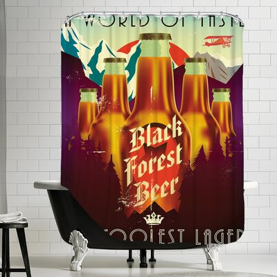 Polyester Black Forest Beer Shower Curtain