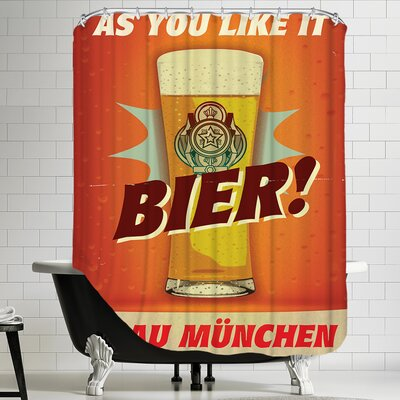 Polyester Biers Shower Curtain